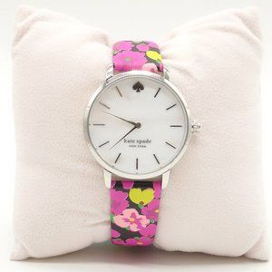 NWT KATE SPADE Floral Metro Watch Leather Band